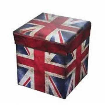 Puff plegable Bandera UK