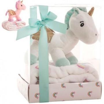 Peluche Unicornio + manta...